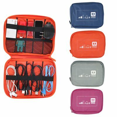 Earphone Data Cables USB Flash Drives Travel Case Digital Storage Bag Pouch ED