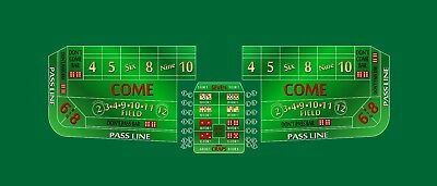 Craps layout 10 foot green discounted