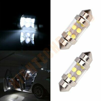 2x Car LED 6SMD Interior Festoon Bulb Lights White Dome Map Trunk lamps 31mm 12V