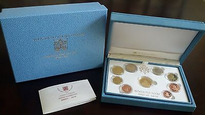 Vatican Proof Annual Coin Set 2012 8 Coins + 50 Euro Gold coin NEW Perfect