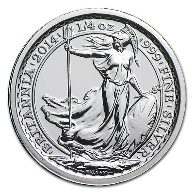 2014 Great Britain 1/4 oz Silver Britannia SS Gairsoppa BU - SKU #86209
