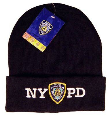 dbcdf4f3c88 NYPD Navy Winter Hat Beanie Skull Cap Officially Licensed by The New York.