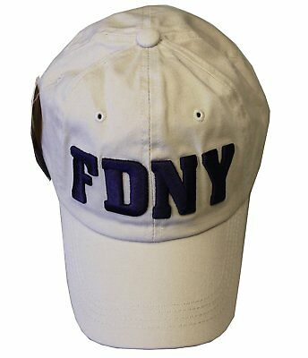 444ac6132 FDNY BASEBALL HAT Fire Department Of New York City Pink & White One ...