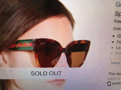 b20d6b21943 GUCCI OVERSIZED SPECIAL Edition Square Sunglasses- Tortoise Green ...