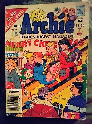 Archie Comics Digest #94 1989 Merry Christmas