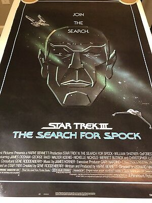STAR TREK III: THE SEARCH FOR SPOCK Original Movie Poster 27X40 SS/ROLLED - 1984