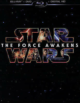Star Wars: The Force Awakens (Blu-ray/DVD, 2016, 3-Disc Set, Includes Digital Co