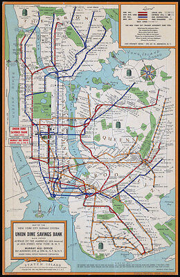 Mta Subway Map In 1990.New York City Nyc Manhattan Brooklyn Mta Subway Train Map Poster