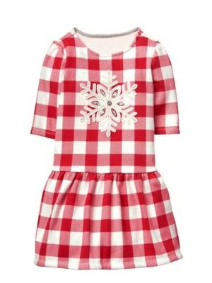 a16f467541135 Gymboree Girls Nwt North Pole Party Red Snowflake Buffalo Plaid Holiday  Dress 2t