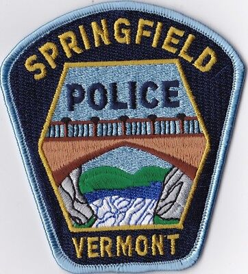 Springfield Police Patch Vermont VT NEW