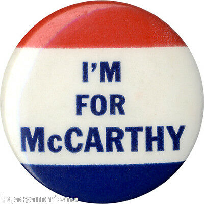 1952 Cold War Era Joseph Joe McCarthy Wisconsin Senate Campaign Button (1271)