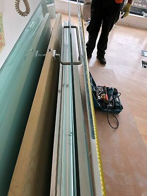 (6x) 12mm TOUGHENED GLASS PANELS Plus DOOR      office partitions