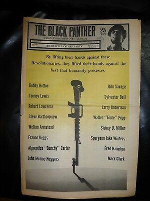 ORIGINAL RARE VINTAGE BLACK PANTHER PARTY NEWSPAPER - Vol. 4 - #3, Dec 20, 1969