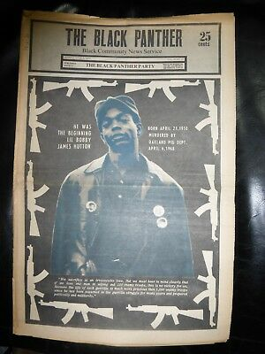 ORIGINAL RARE VINTAGE BLACK PANTHER PARTY NEWSPAPER - Vol. 4 - #18, Apr 6, 1970