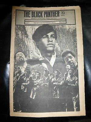 ORIGINAL RARE VINTAGE BLACK PANTHER PARTY NEWSPAPER - Vol. 3 - #20, Sep 6, 1969