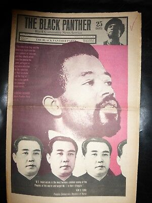 ORIGINAL RARE VINTAGE BLACK PANTHER PARTY NEWSPAPER - Vol. 3 - #27, Oct 25, 1969