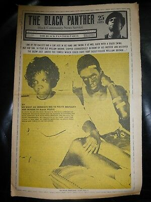 ORIGINAL RARE VINTAGE BLACK PANTHER PARTY NEWSPAPER - Vol. 4 - #30, Jun 27, 1970