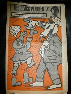 ORIGINAL RARE VINTAGE BLACK PANTHER PARTY NEWSPAPER - Vol. 3 - #18, Aug 23, 1969