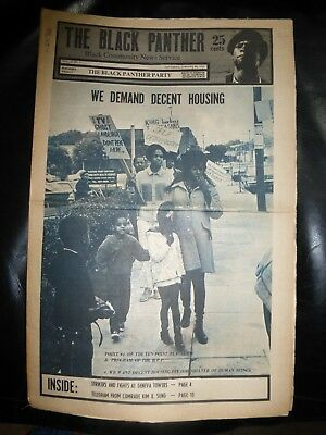 ORIGINAL RARE VINTAGE BLACK PANTHER PARTY NEWSPAPER - Vol. 4 - #8, Jan 24, 1970