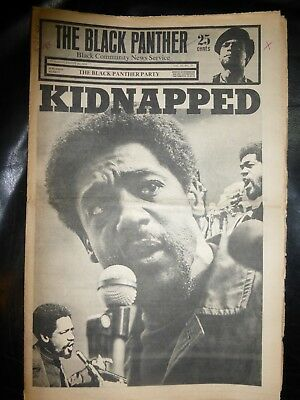 ORIGINAL RARE VINTAGE BLACK PANTHER PARTY NEWSPAPER - Vol. 3 - #19, Aug 30, 1969