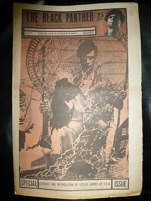 ORIGINAL RARE VINTAGE BLACK PANTHER PARTY NEWSPAPER - Vol. 4 - #12, Feb 21, 1970