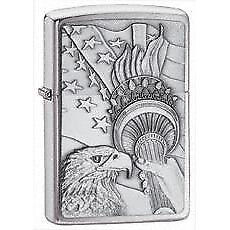 Zippo 20895 Zippo Something Patriotic      Lighter Brushed Chrome 20895