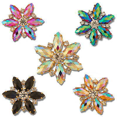 Style 8730 EIMASS® Sew or Glue on Jewelled Applique for Bridal Dress, Costumes