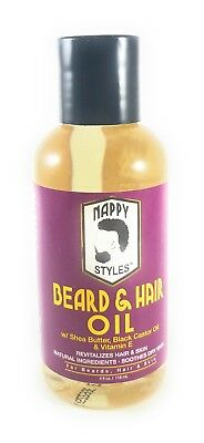 Nappy Styles Beard Hair Oil With Shea Butter Black Castor Oil