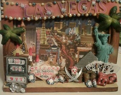 "Las Vegas Nevada Casino Themed Picture Frame Fits 6x4.25"" Photo"