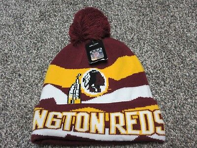 93d886ce5 KIDS YOUTH SIZE NFL Washington Redskins Retro Cuffed Knit Pom Hat ...