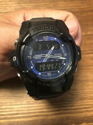996b74dc831a RARE! CASIO BLACK BLUE TITANIUM GIEZ ANALOG DIGITAL G SHOCK GS-300 ...