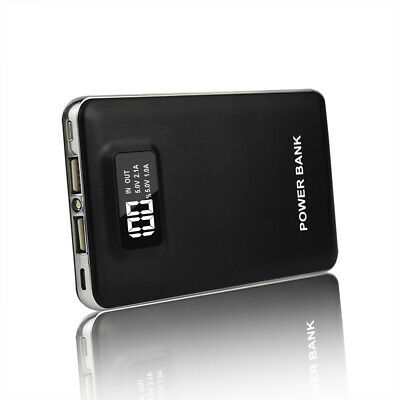 AU 50000mAh Power Bank 2USB LCD External Backup Battery Portable Phone Charger