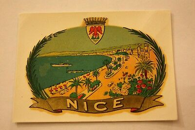 Vintage Beach Nice France Water Decal Travel Vacation Luggage