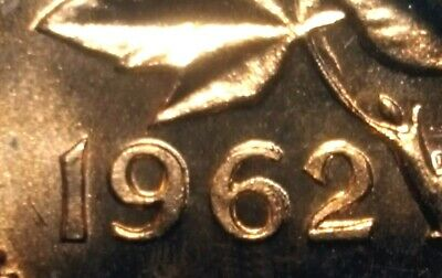 "Canada 1962 Small Cent BU UNC Red *Double Date ""962""* Variety Penny!!"