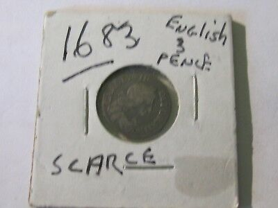 1683 3-Pence Carolus II     Great Britain silver     Maundy coinage