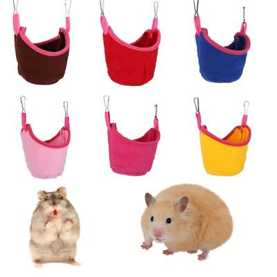 US Small Pet Ferret Hamster Cage Hanging Nest Bed House Rat Squirrel Hammock Toy
