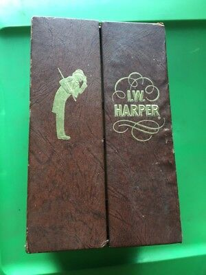 I W Harper 86 Proof Kentucky Straight Bourbon Whiskey Barrel Decanter with Box