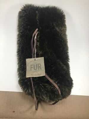 b417fb923eb5 NEW RESTORATION HARDWARE Luxe Faux Sable Fur Wine Carrying Gift Bag ...