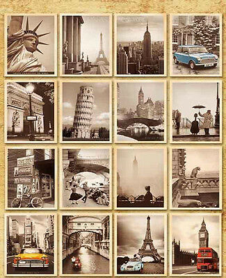 1Set/32pcs Vintage Travel Landscape Postcard Greeting Card Gift Cards Decor New