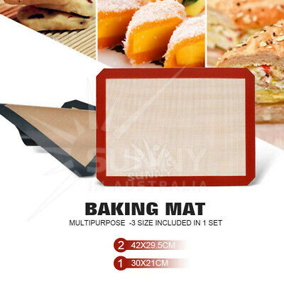 3Pcs Non-Stick Silicone Baking Mat Emarle Silicon Bakeware Worldwide