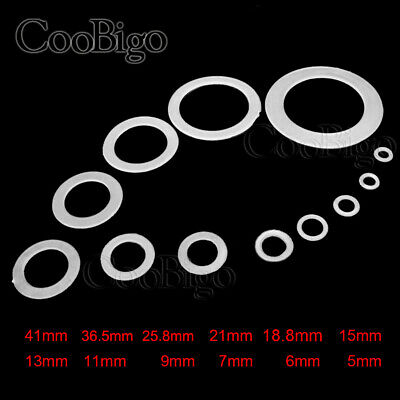 12 Clear Nylon Washer Shim Spacer Washer Gasket Rings O-Ring 12 Size Pick M5~M41