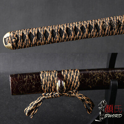 Black & Brown Synthetical Silk Ito Sageo Cord Tsukamai For Japanese Katana Sword