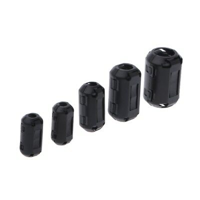 Clip-on Ferrite Ring Core RFI EMI Noise Suppressor Cable Clip For 3.5/5/7/9/13mm