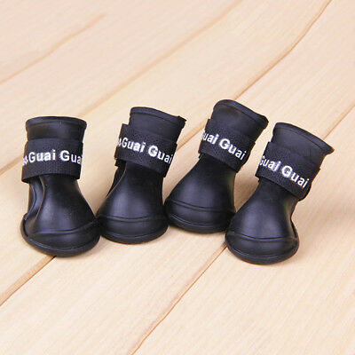 Pet WaterProof Rain Shoes Boots Socks Anti-slip Rubber Boot for Small Big Lot QN