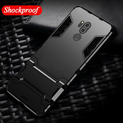 For LG G7 ThinQ G6 Q6 V30 K8 K10 Hybrid Armor Rugged Shockproof Case Stand Cover