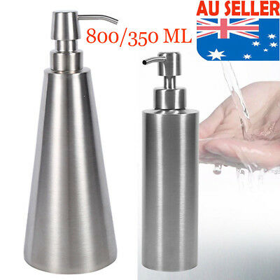 350/800ml Soap Dispenser Countertop Pump Lotion Bottle 304 Stainless Steel New