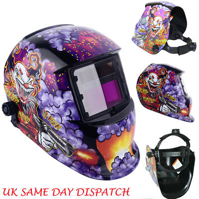 JOKER Design Auto Darkening Welding Helmet Mask Welders Solar Power Grinding UK