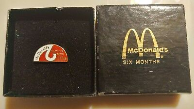McDonalds Employee 6 Months of Service Lapel Tac Pin NEW in Box & FREE Shipping