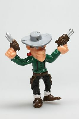 Figurine plastique Lucky Luke William Dalton pistolets levés Comansi
