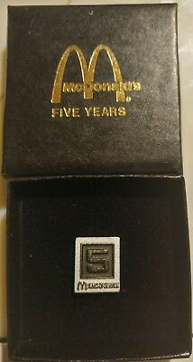 McDonalds Employee 5 Years of Service Lapel Tac Pin NEW in Box & FREE Shipping